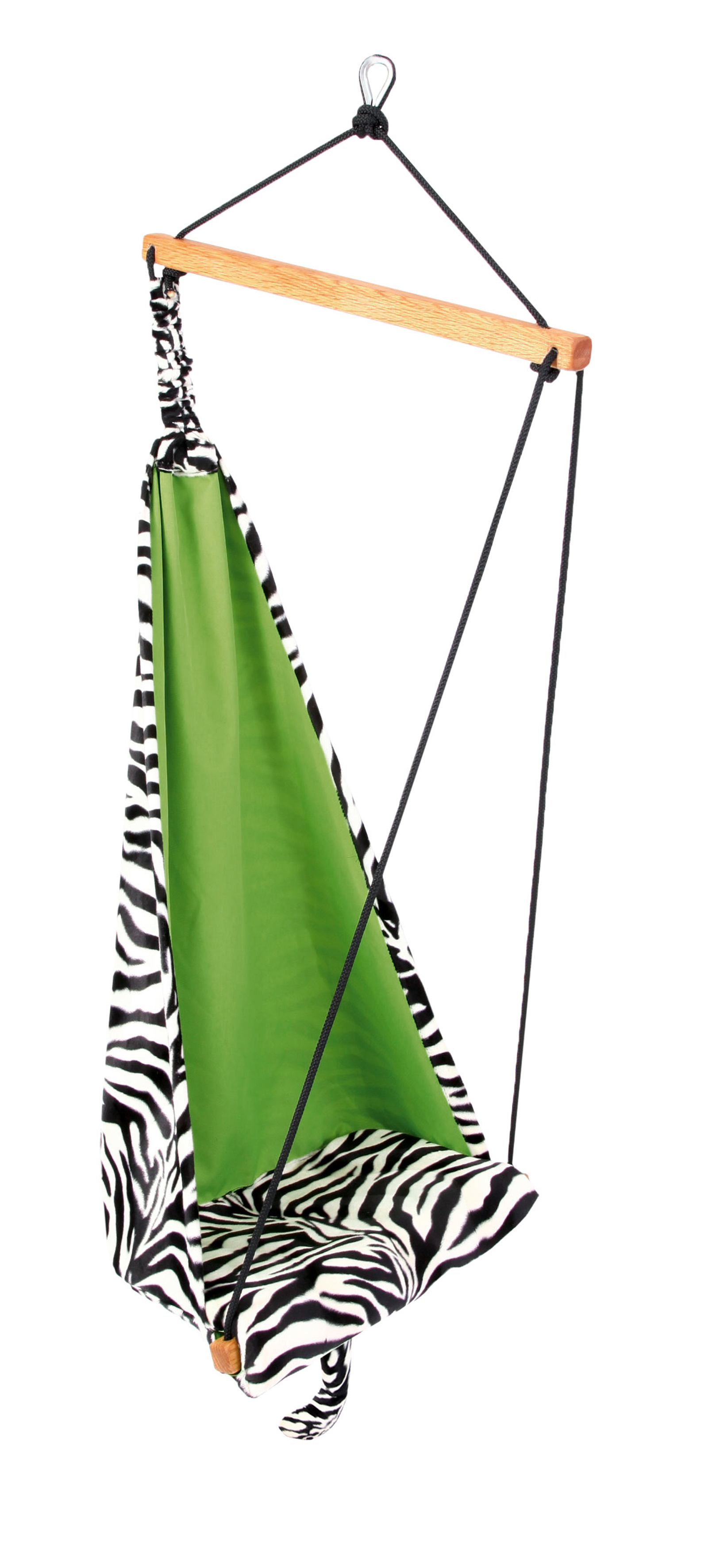 'Hang Mini' Zebra Kinderhangstoel - Groen - Amazonas