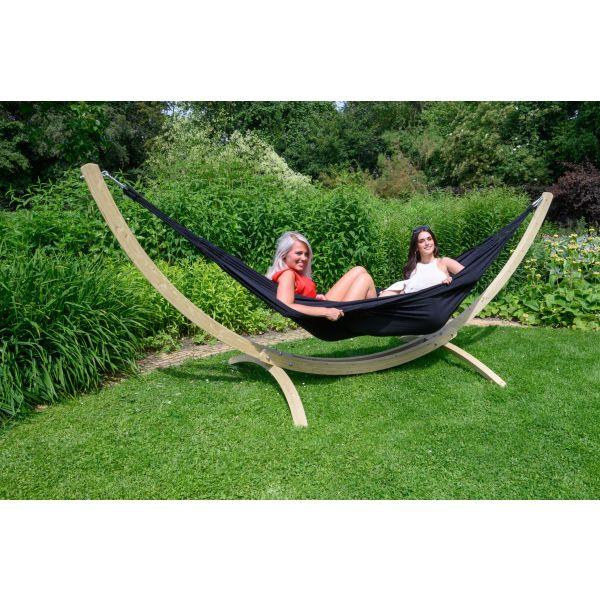 'Comfort' Black Tweepersoons Hangmat
