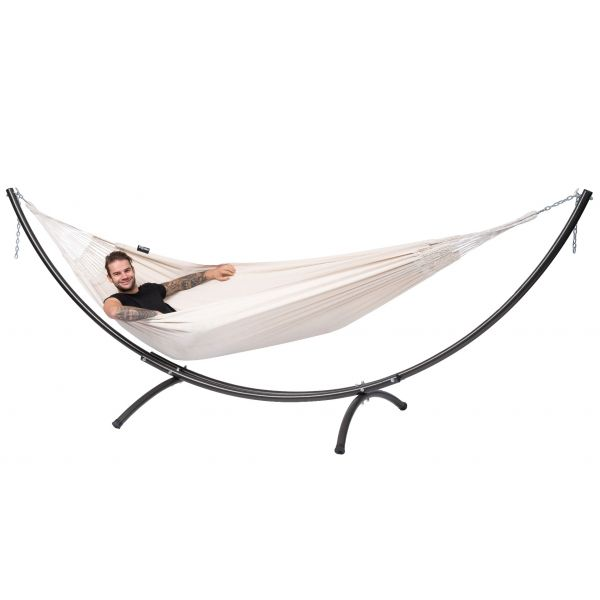 'Arc & Comfort' White Tweepersoons Hangmatset