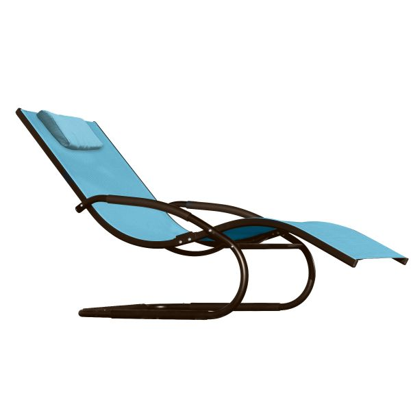 'Wave' Blue Loungestoel