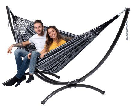 Arc & Comfort Black White Tweepersoons Hangmatset