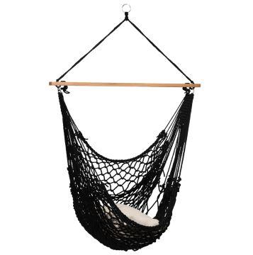 Rope Black Hangstoel