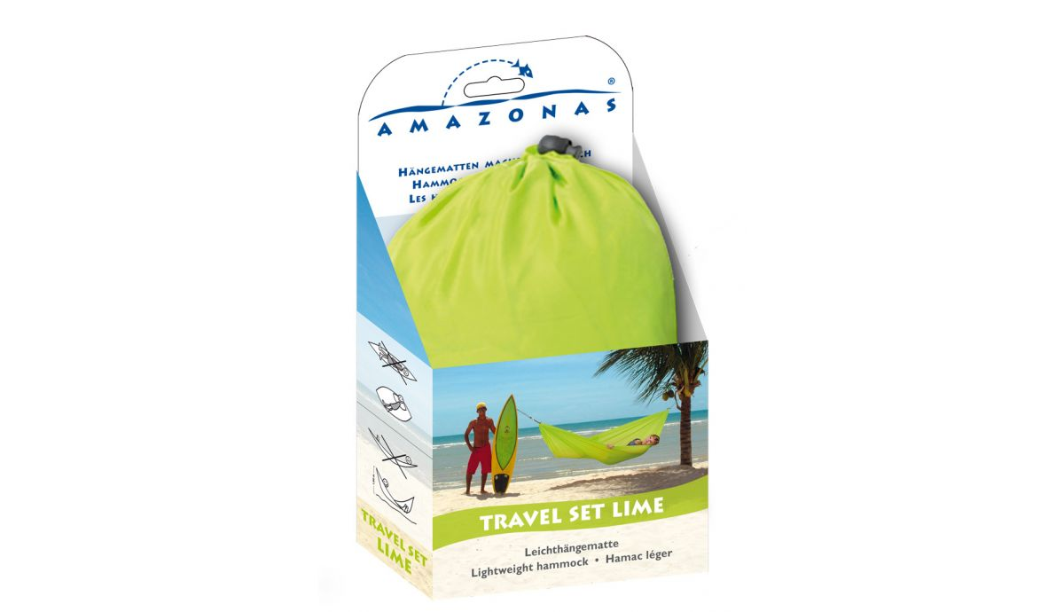 'Travelset' Lime Eénpersoons Reishangmat