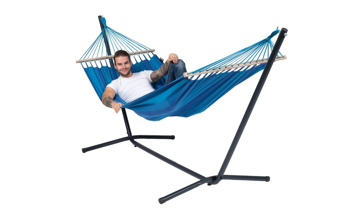 'Easy & Relax' Blue Eénpersoons Hangmatset