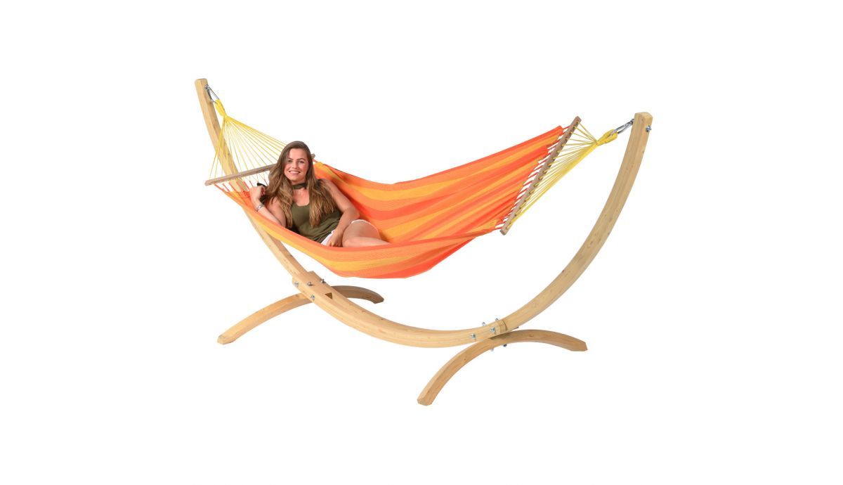 'Wood & Relax' Orange Eénpersoons Hangmatset