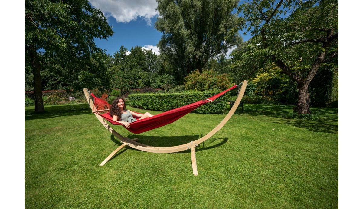'Wood & Relax' Red Eénpersoons Hangmatset