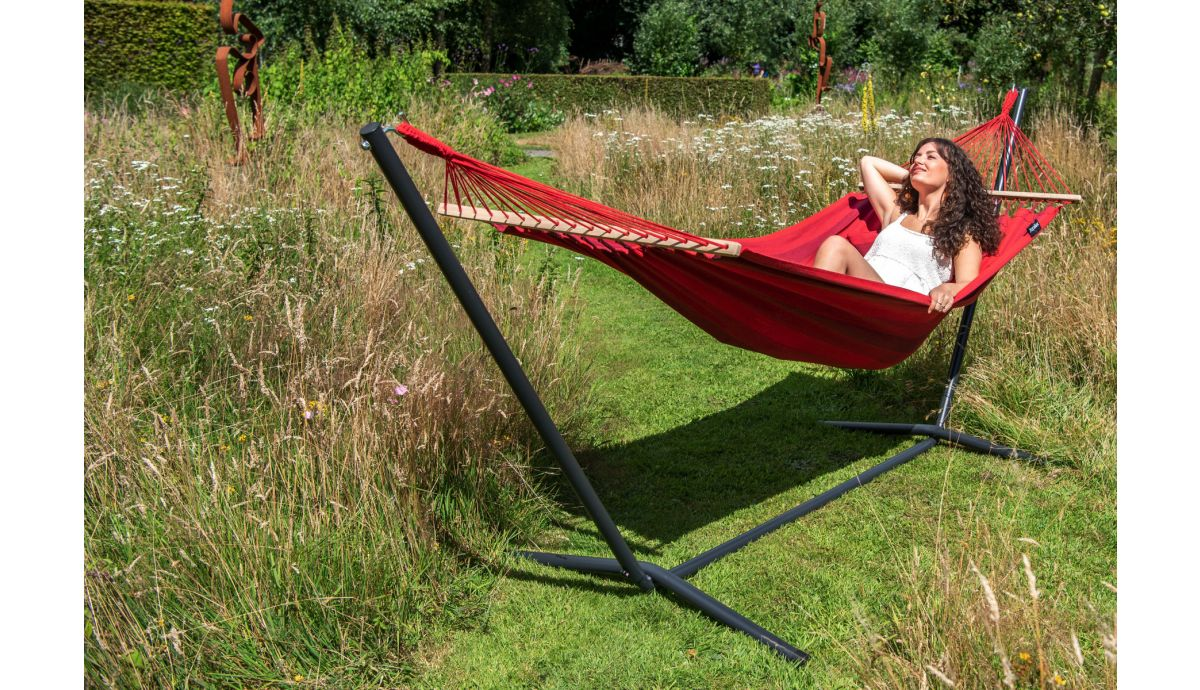 'Easy & Relax' Red Eénpersoons Hangmatset
