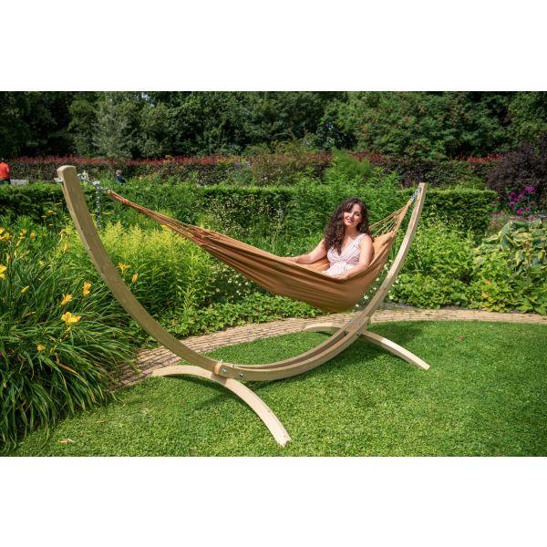 'Plain' Mocca Eénpersoons Hangmat