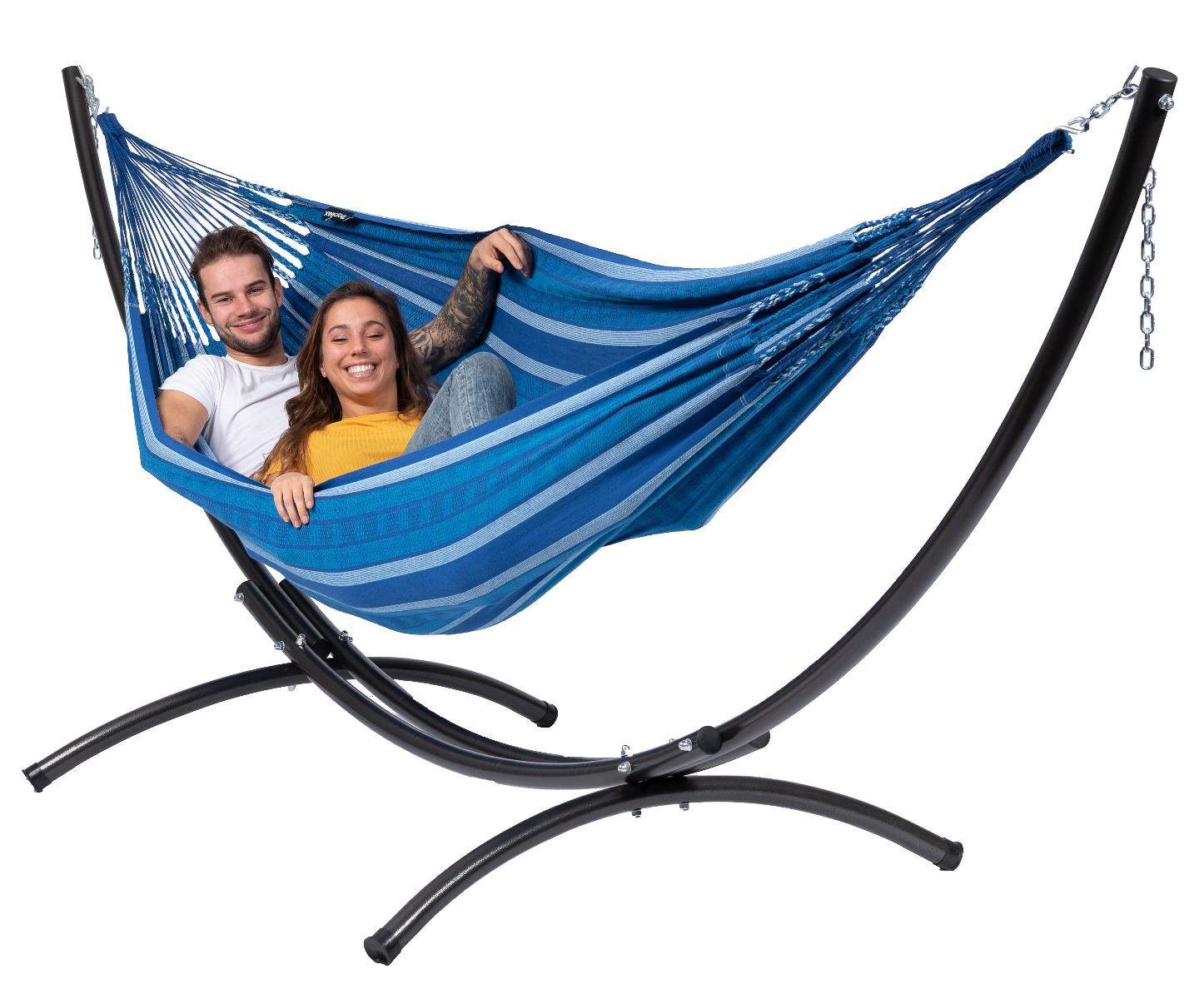 'Arc & Chill' Calm Tweepersoons Hangmatset - Blauw - Tropilex �