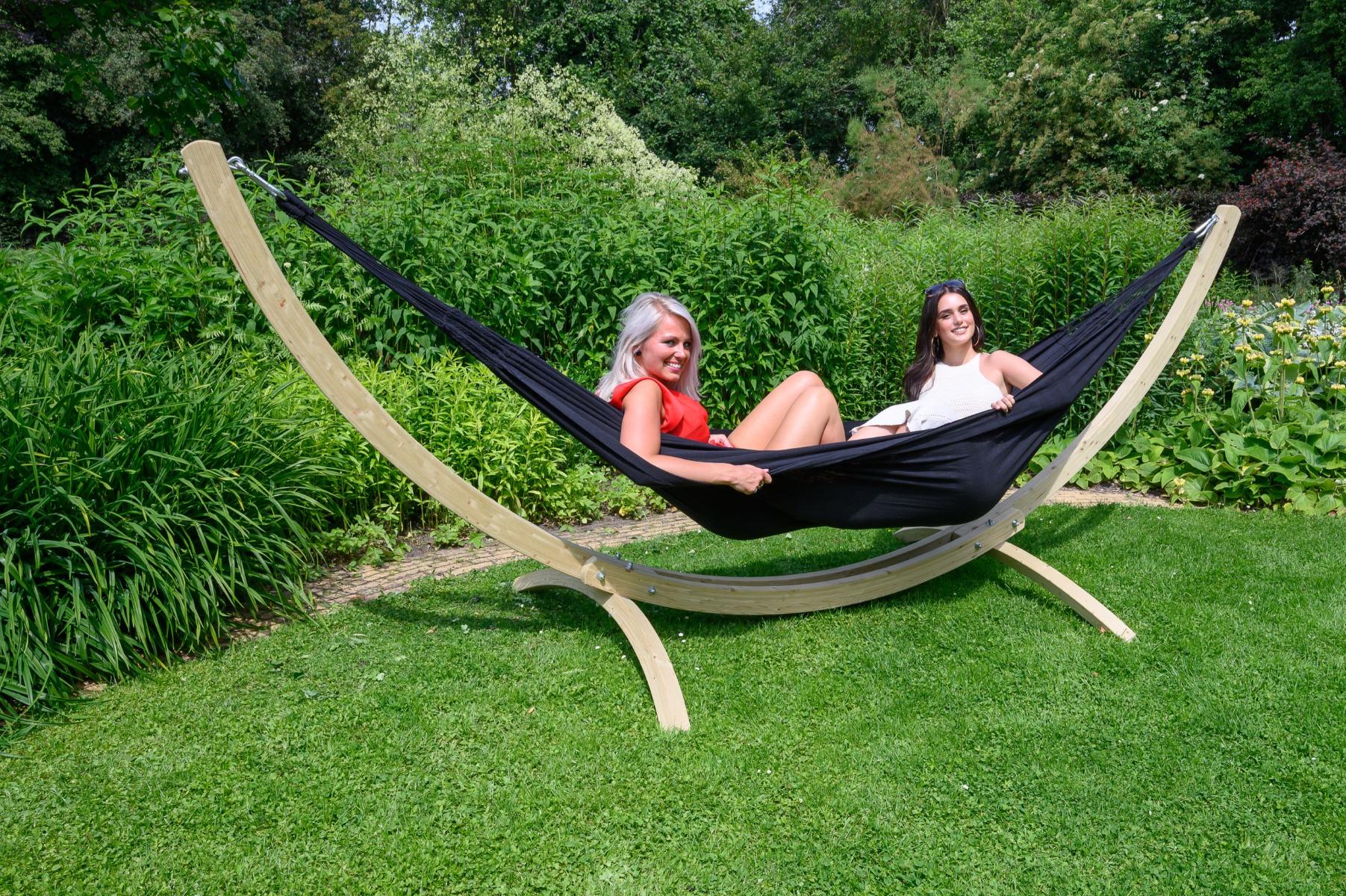 'Comfort' Black Tweepersoons Hangmat - Zwart - Tropilex �