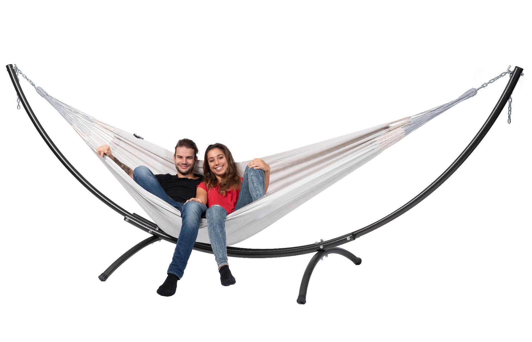 'Arc & Comfort' Pearl Tweepersoons Hangmatset - Wit - Ecru - Tropilex �