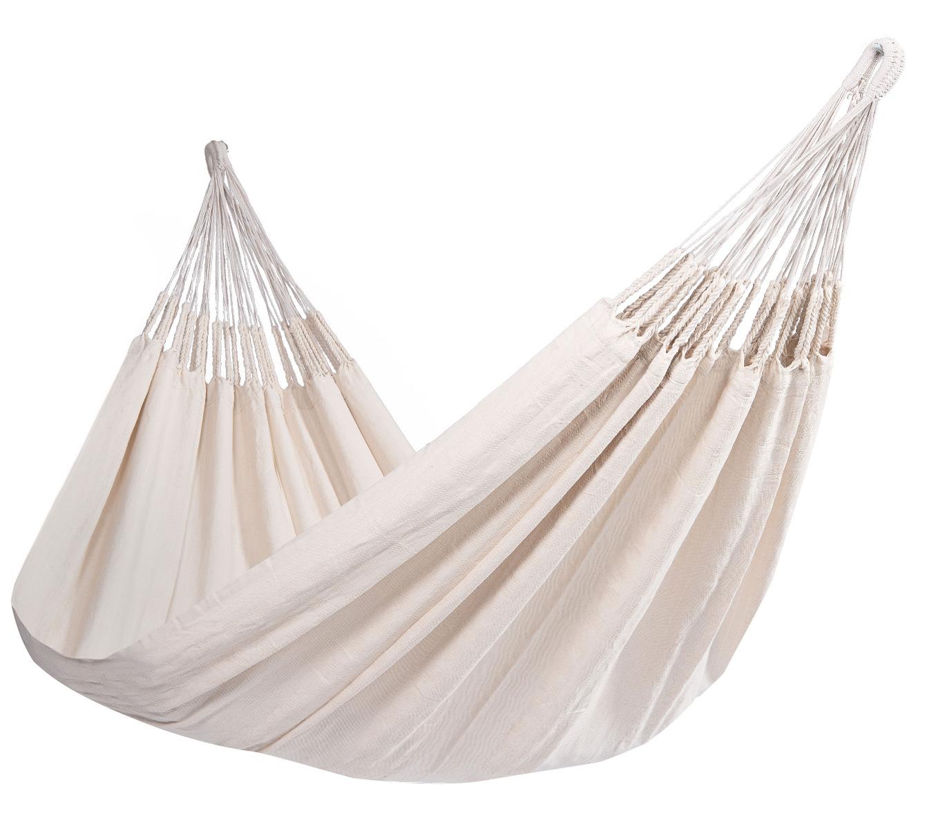 'Comfort' White Tweepersoons Hangmat - Wit - Ecru - Tropilex �
