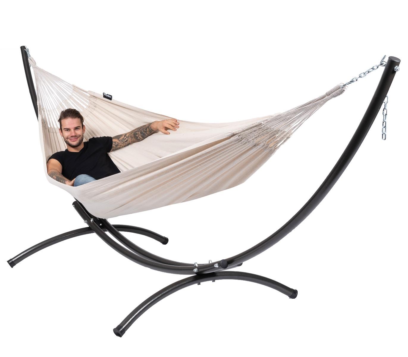 'Arc & Comfort' White Tweepersoons Hangmatset - Wit - Ecru - Tropilex �