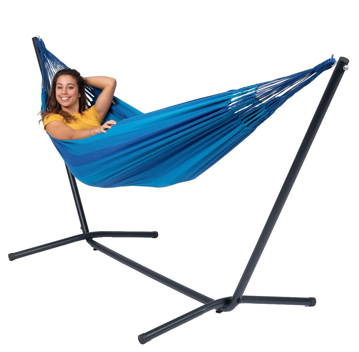 'Easy & Dream' Blue E�npersoons Hangmatset - Blauw - Tropilex �