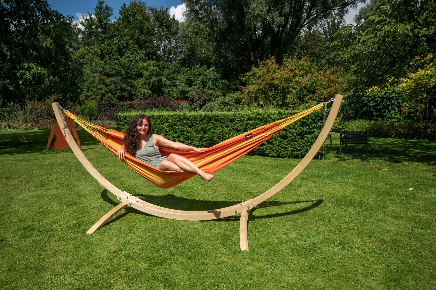 'Wood & Dream' Orange Eénpersoons Hangmatset - Oranje - Tropilex ®