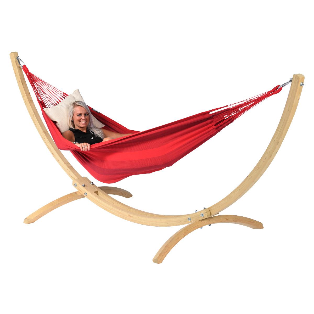 'Wood & Dream' Red E�npersoons Hangmatset - Rood - Tropilex �