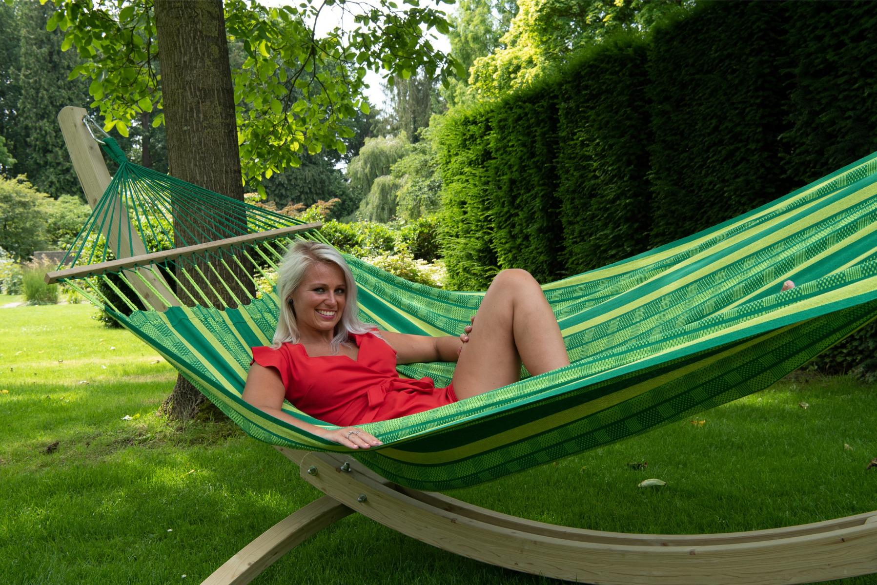 'Lazy' Joyful Tweepersoons Hangmat - Groen - Tropilex �