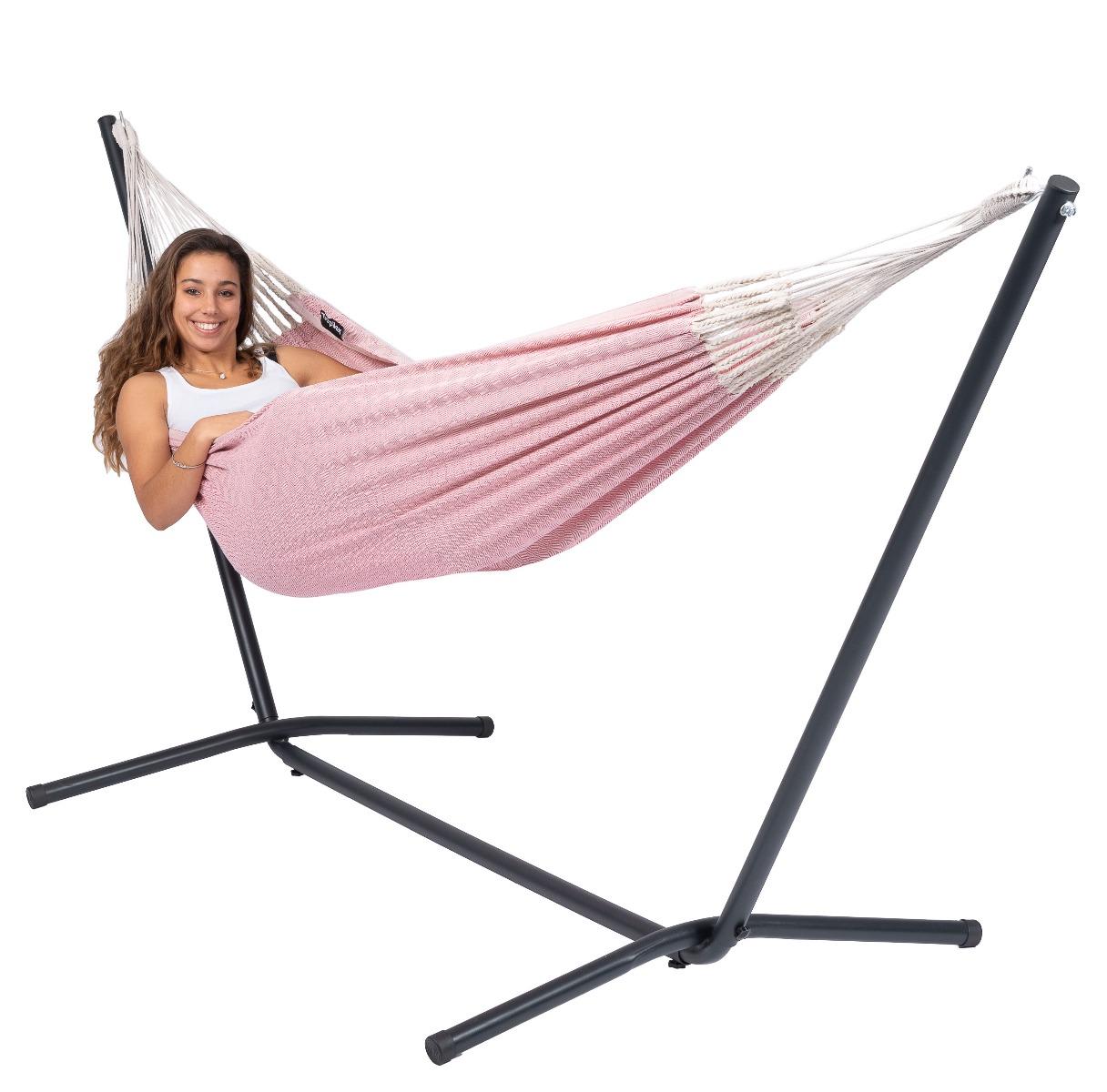 'Easy & Natural' Pink E�npersoons Hangmatset - Roze - Tropilex �