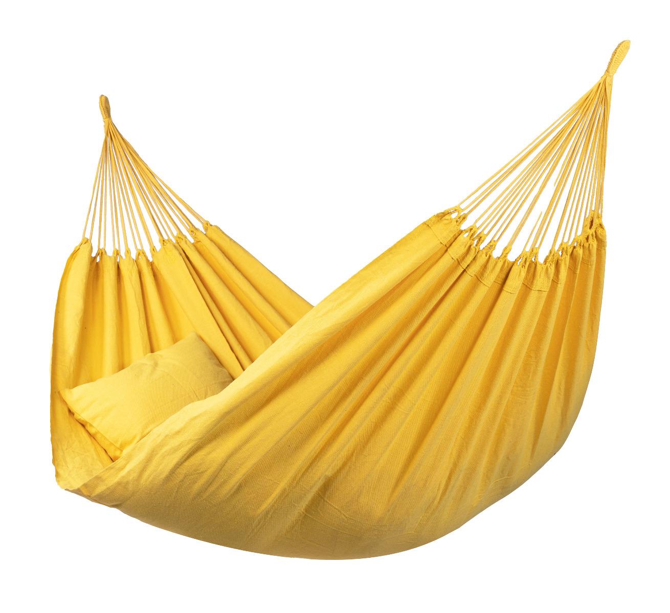 'Organic' Yellow Tweepersoons Hangmat - Geel - Tropilex �