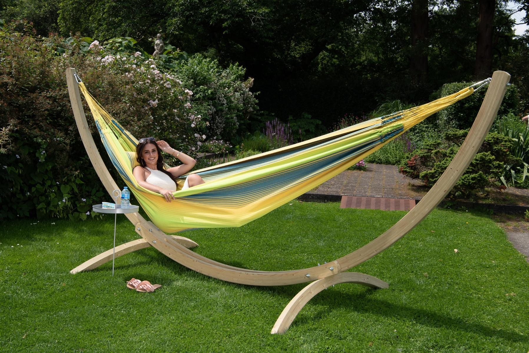 'Wood & Refresh' Cocktail XXL Hangmatset - Geel - Tropilex �