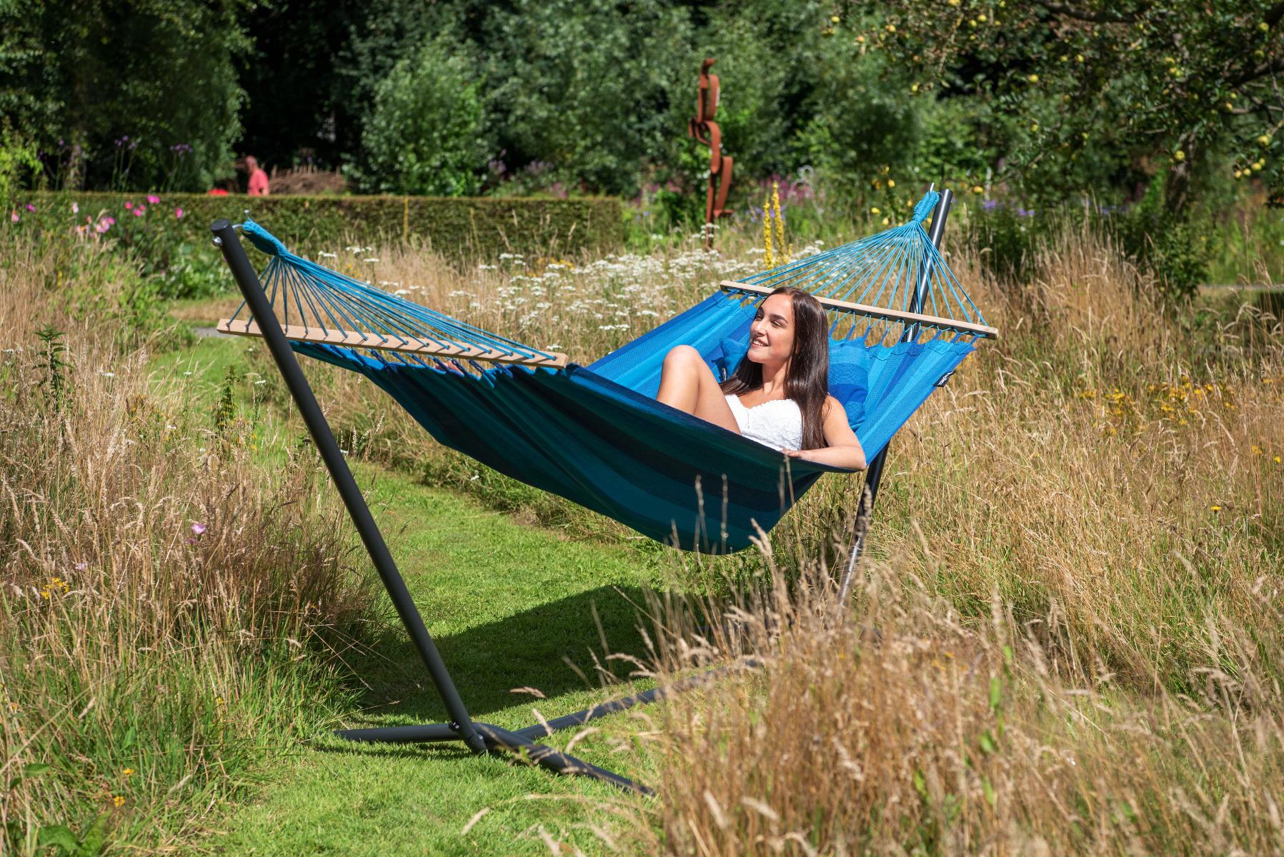 'Easy & Relax' Blue E�npersoons Hangmatset - Blauw - Tropilex �