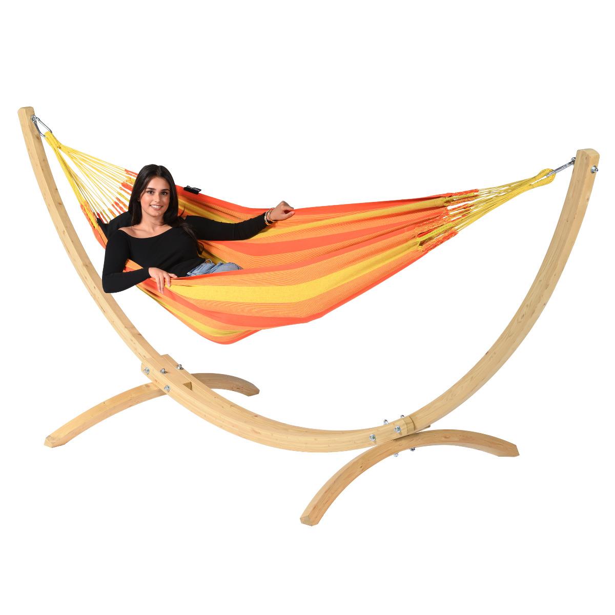 'Wood & Dream' Orange E�npersoons Hangmatset - Oranje - Tropilex �