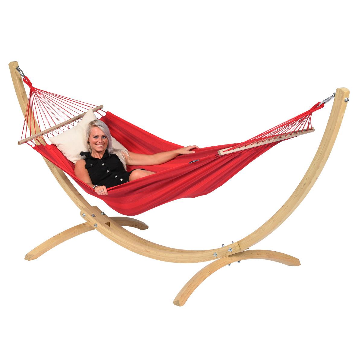 'Wood & Relax' Red E�npersoons Hangmatset - Rood - Tropilex �