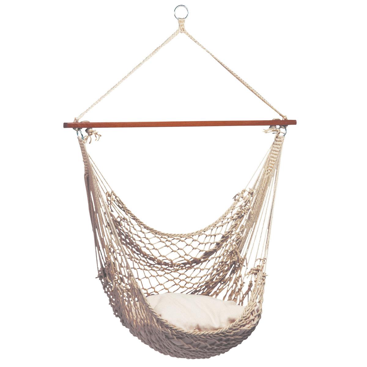 'Rope' Natura Hangstoel - Wit - Ecru - Tropilex �