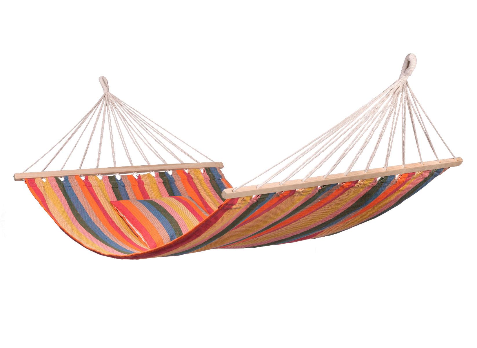 'Gomera' Spreaderbar E�npersoons Hangmat - Wit - Ecru - 123 Hammock