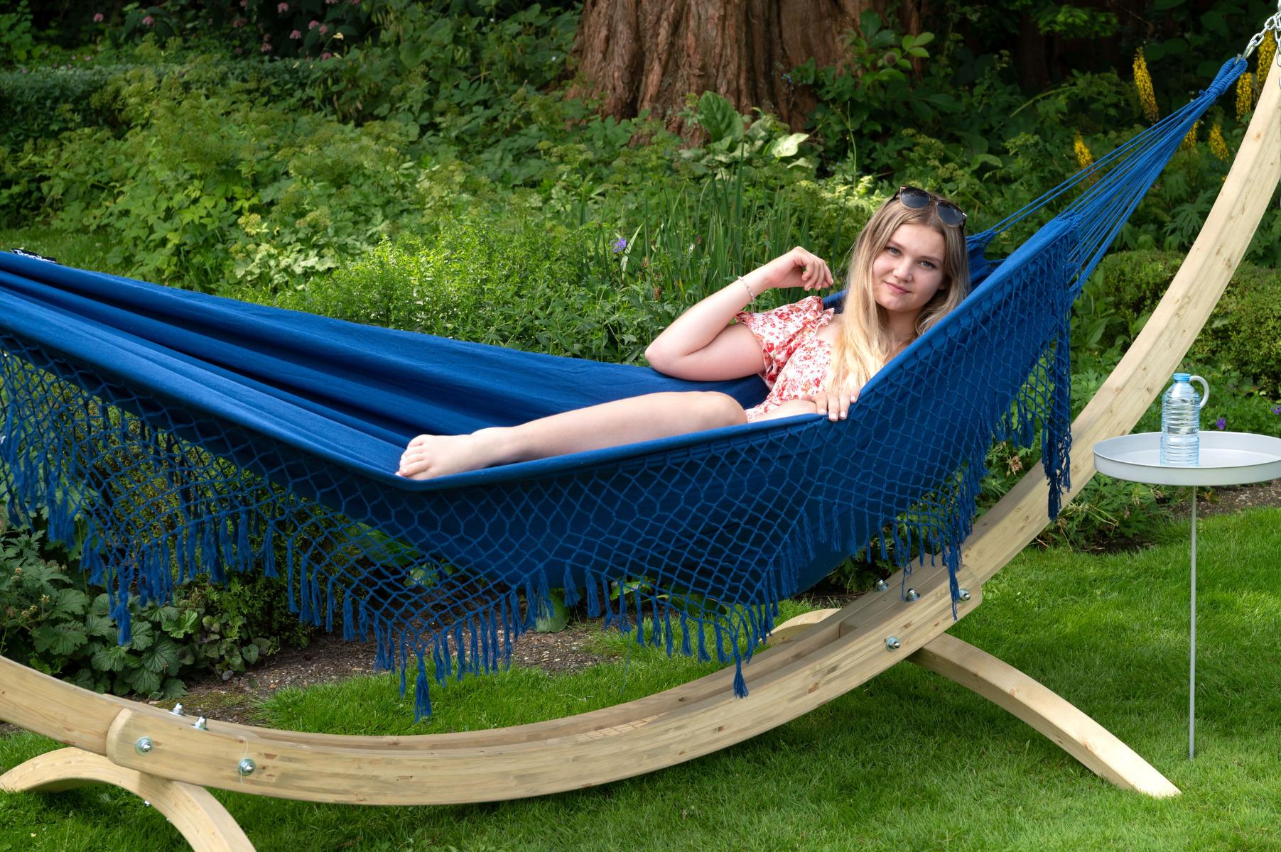 'Sublime' Blue Tweepersoons Hangmat - Blauw - Tropilex �