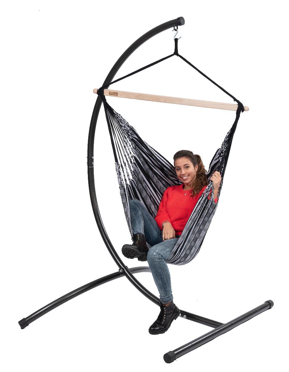 'Comfort' Black White Hangstoel - Zwart - Tropilex �