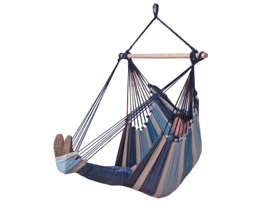 'Tropical' Sea Lounge Hangstoel - Blauw - 123 Hammock