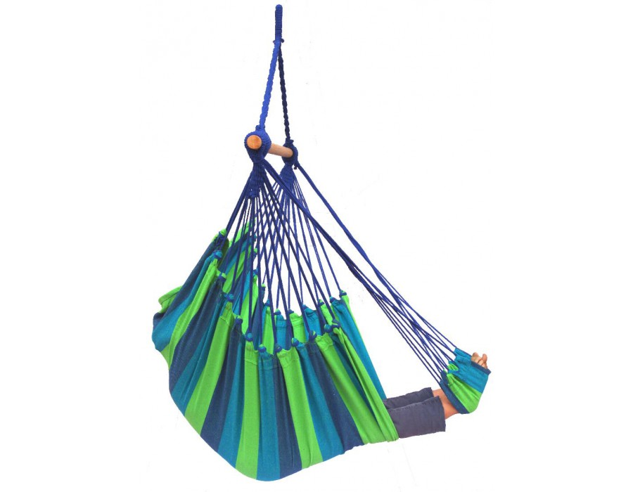'Tropical' Pine Lounge Hangstoel - Groen - 123 Hammock