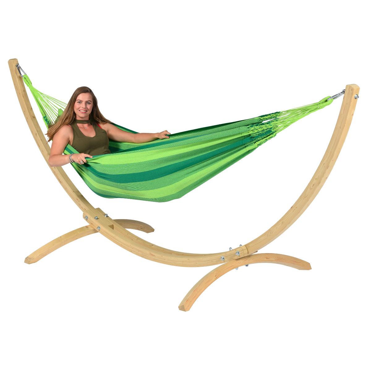 'Wood & Dream' Green E�npersoons Hangmatset - Groen - Tropilex �