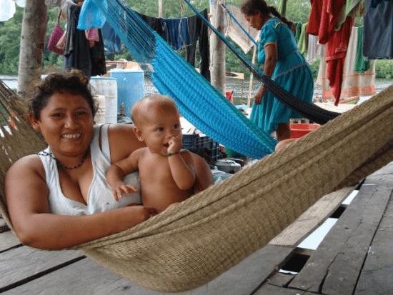 Hangmat bij de Warau