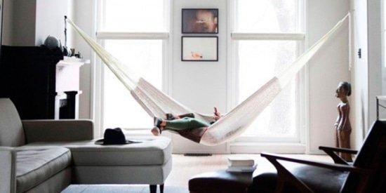 Hangmat in modern interieur