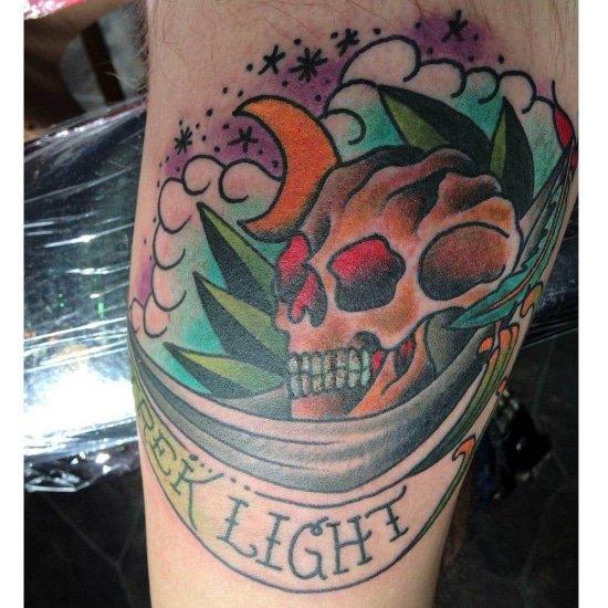 Hangmat met skull tattoo