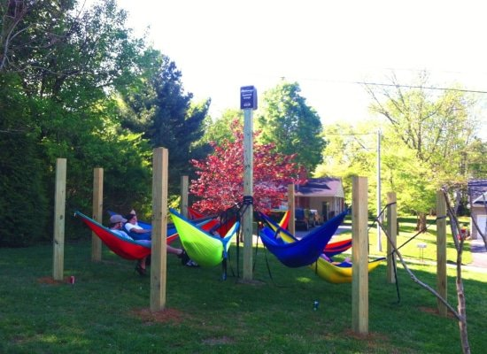 hangmatten lounge campus