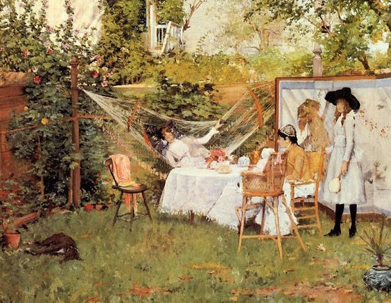 William Merrit Chase - The Open Air Breakfast