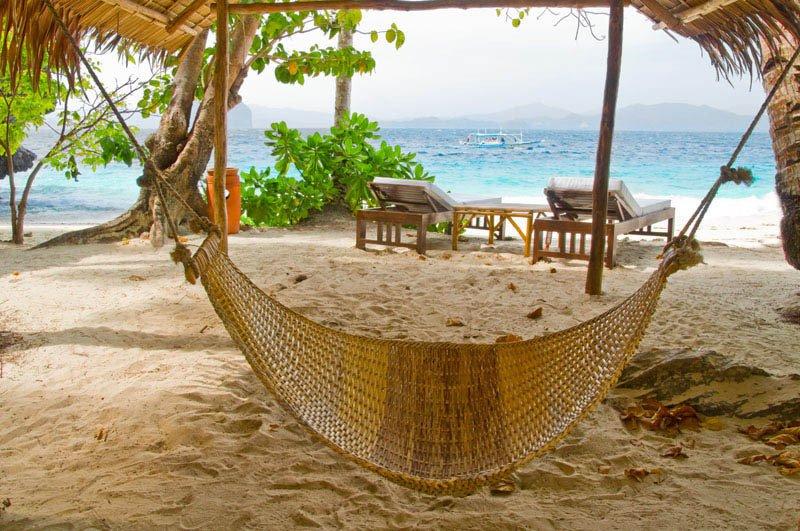 Beste hangmat locatie - El Nido Filipijnen