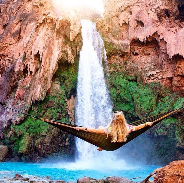 Hangmat boven het water