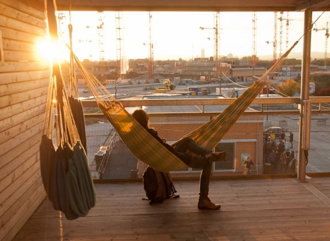 Hangmat in huis of op balkon